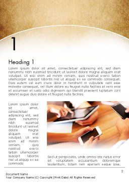 Digital Addiction Word Template, First Inner Page, 13630, Telecommunication — PoweredTemplate.com