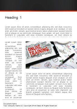 Thinking Big Word Template, First Inner Page, 13631, Education & Training — PoweredTemplate.com