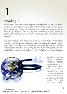 Global Medicine Concept Word Template, First Inner Page, 13637, Medical — PoweredTemplate.com