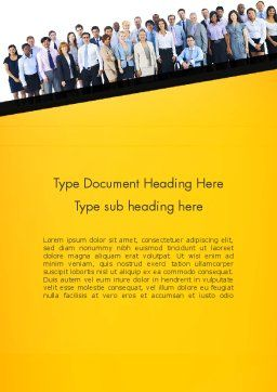 Hire Compliance Word Template, Cover Page, 13640, People — PoweredTemplate.com