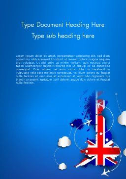 UK Air Travel Word Template Cover Page