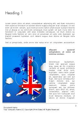 UK Air Travel Word Template First Inner Page