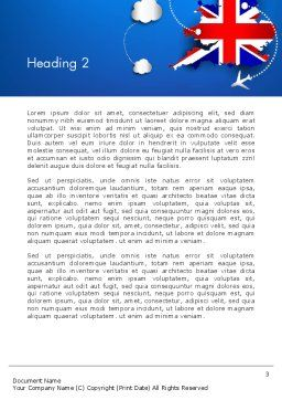 UK Air Travel Word Template Second Inner Page