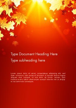Autumn Maple Word Template, Cover Page, 13642, Nature & Environment — PoweredTemplate.com