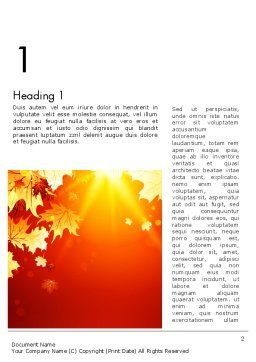Autumn Maple Word Template, First Inner Page, 13642, Nature & Environment — PoweredTemplate.com