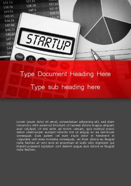 Startup Calculator Word Template, Cover Page, 13651, Financial/Accounting — PoweredTemplate.com