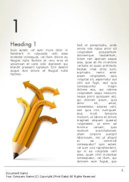 Education Pencil Word Template, First Inner Page, 13657, Education & Training — PoweredTemplate.com