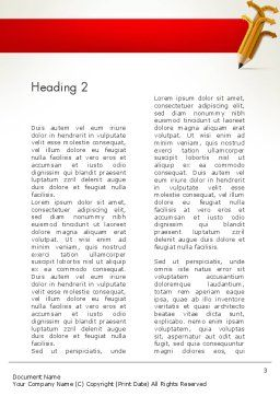 Education Pencil Word Template, Second Inner Page, 13657, Education & Training — PoweredTemplate.com