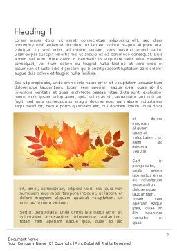 Bunch of Autumn Leaves Word Template, First Inner Page, 13658, Nature & Environment — PoweredTemplate.com