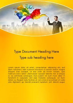Corporate Creative Word Template, Cover Page, 13660, Business Concepts — PoweredTemplate.com