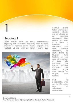 Corporate Creative Word Template, First Inner Page, 13660, Business Concepts — PoweredTemplate.com