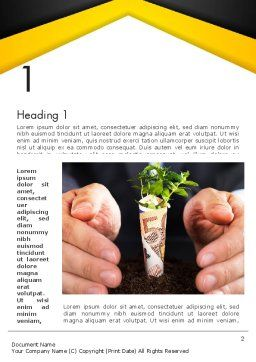 Growing Startup Word Template, First Inner Page, 13662, Financial/Accounting — PoweredTemplate.com