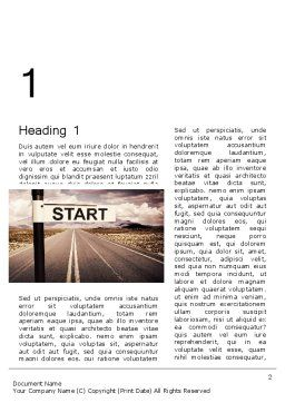 A Big Start Word Template, First Inner Page, 13664, Business Concepts — PoweredTemplate.com