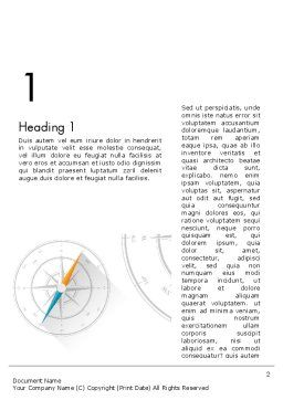 Compass on Wind Rose Word Template, First Inner Page, 13665, Business Concepts — PoweredTemplate.com