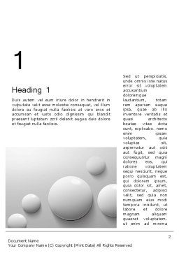 White Drops Word Template, First Inner Page, 13668, 3D — PoweredTemplate.com