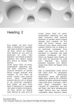 White Drops Word Template, Second Inner Page, 13668, 3D — PoweredTemplate.com