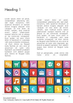 Grid Designed Flat Icons Word Template, First Inner Page, 13670, Business Concepts — PoweredTemplate.com