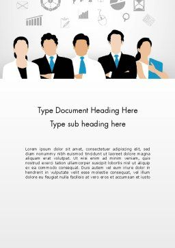 Business Team Showing Unity Word Template, Cover Page, 13671, Business — PoweredTemplate.com