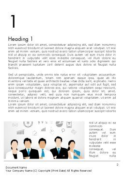 Business Team Showing Unity Word Template, First Inner Page, 13671, Business — PoweredTemplate.com