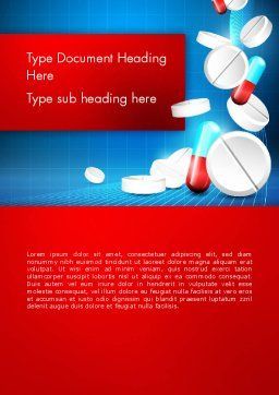 Medical Background Word Template, Cover Page, 13680, Medical — PoweredTemplate.com
