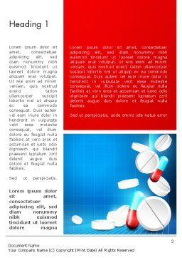 Medical Background Word Template, First Inner Page, 13680, Medical — PoweredTemplate.com