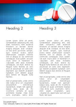 Medical Background Word Template, Second Inner Page, 13680, Medical — PoweredTemplate.com