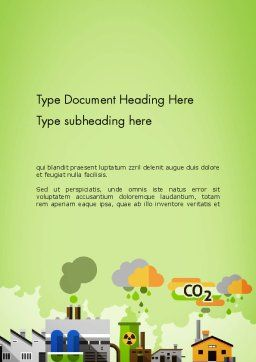 Planet Pollution Word Template Cover Page