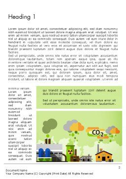 Planet Pollution Word Template First Inner Page
