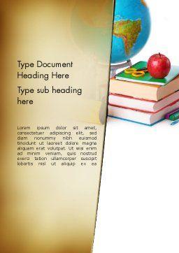 Back to School Supplies Word Template, Cover Page, 13682, Education & Training — PoweredTemplate.com