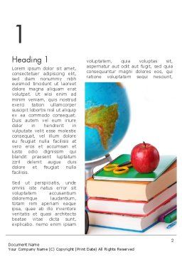 Back to School Supplies Word Template, First Inner Page, 13682, Education & Training — PoweredTemplate.com