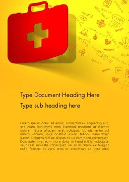 First Aid Box and Medical Supplies Word Template, Cover Page, 13684, Medical — PoweredTemplate.com