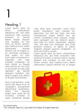 First Aid Box and Medical Supplies Word Template, First Inner Page, 13684, Medical — PoweredTemplate.com