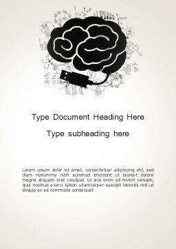Brain Training Concept Word Template, Cover Page, 13685, Education & Training — PoweredTemplate.com