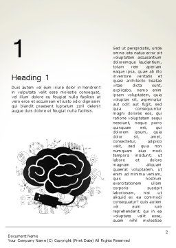 Brain Training Concept Word Template, First Inner Page, 13685, Education & Training — PoweredTemplate.com