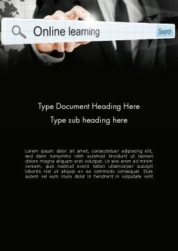 Online Tutoring Word Template, Cover Page, 13687, Education & Training — PoweredTemplate.com