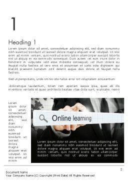 Online Tutoring Word Template First Inner Page