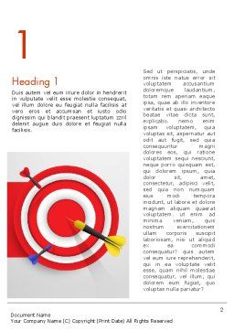 Red Bullseye Target Word Template, First Inner Page, 13690, Business Concepts — PoweredTemplate.com