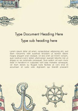 Nautical Vintage Word Template Cover Page