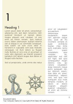 Nautical Vintage Word Template First Inner Page