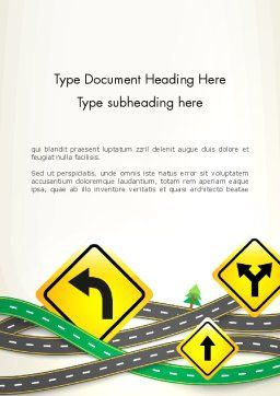 Road Trip Word Template, Cover Page, 13694, Holiday/Special Occasion — PoweredTemplate.com