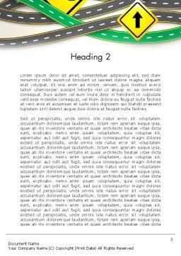 Road Trip Word Template, Second Inner Page, 13694, Holiday/Special Occasion — PoweredTemplate.com