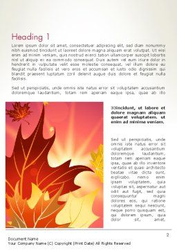 Autumn Leaves and Glow Word Template, First Inner Page, 13699, Nature & Environment — PoweredTemplate.com