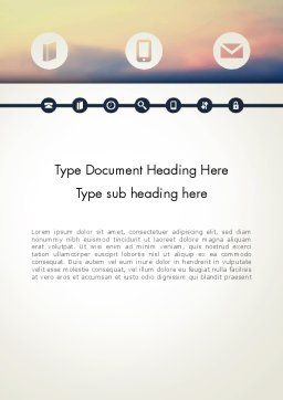 Information Exchange Word Template, Cover Page, 13702, Telecommunication — PoweredTemplate.com