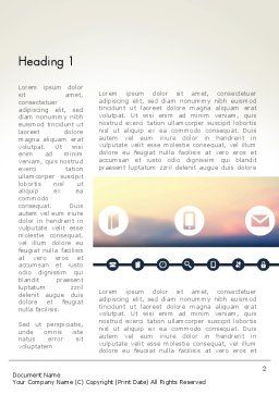 Information Exchange Word Template, First Inner Page, 13702, Telecommunication — PoweredTemplate.com