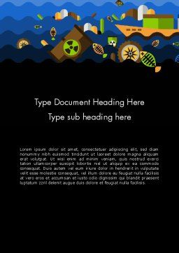 Water Pollution Illustration Word Template, Cover Page, 13703, Nature & Environment — PoweredTemplate.com