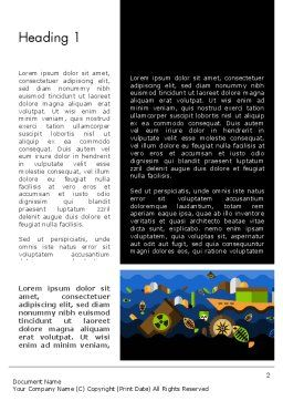 Water Pollution Illustration Word Template, First Inner Page, 13703, Nature & Environment — PoweredTemplate.com