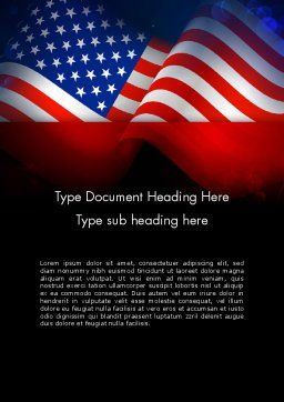 Flag of the United States Word Template Cover Page