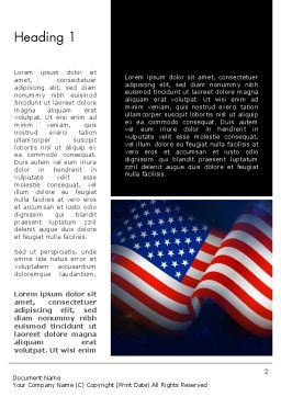 Flag of the United States Word Template First Inner Page