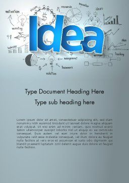 Big Ideas Inspiration Word Template, Cover Page, 13712, Business Concepts — PoweredTemplate.com