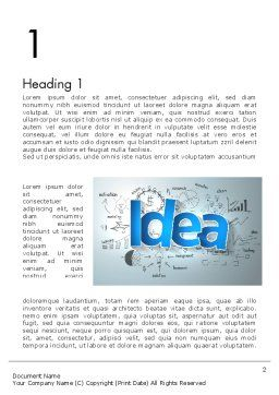 Big Ideas Inspiration Word Template, First Inner Page, 13712, Business Concepts — PoweredTemplate.com